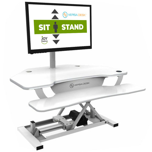 "Sit-To-Stand Computer Work Station - VersaDesk PowerPro® Corner - 36"" W X 31"" D"