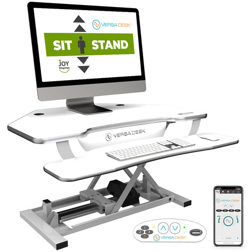 "Sit-To-Stand Computer Work Station - VersaDesk PowerPro® Elite Corner - 36"" W X 31"" D"