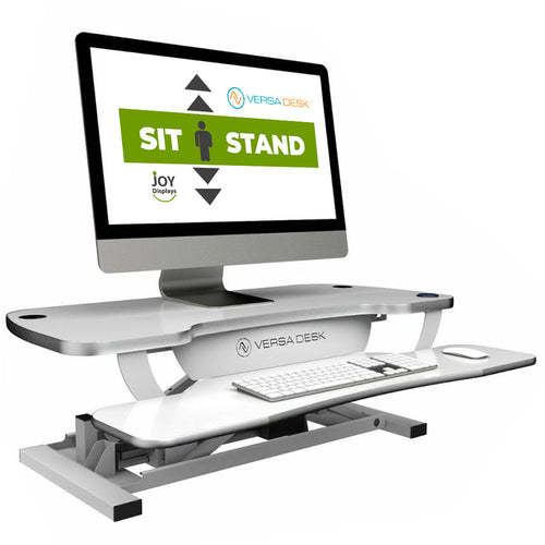 Standing Desk Converter With USB Charging - VersaDesk PowerPro® Desktop Riser