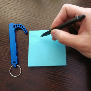 Touch Free Door Opener Keychain With Stylus Pen - Antibacterial Hands Free Tool