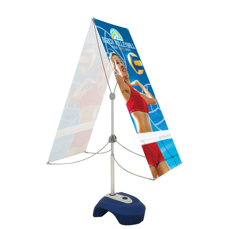 Zephyr Outdoor Banner Stand 2 Ft. X 5 Ft. Double-Sided Graphic Package