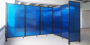 Polycarbonate Room Divider 360 Folding Portable Partition