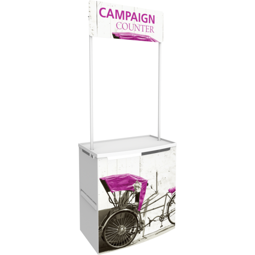 Campaign Counter With Overhead Sign