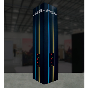 12Ft Tall Tower 01 Tension Fabric Formulate Exhibit Structure