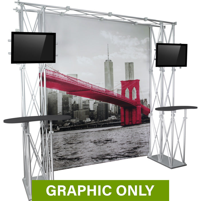 GRAPHIC ONLY - 10ft Backwall Construo 10ft Popup Truss Display Replacement Graphic
