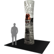 Load image into Gallery viewer, 12Ft Tall Cylinder Tower 01 Tension Fabric Formulate Exhibit Structure