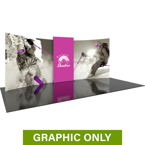 GRAPHIC ONLY - BACKLIT - 20ft Formulate Designer Series 02 Tradeshow Fabric Backwall Replacement Graphic