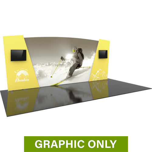 GRAPHIC ONLY - 20ft Formulate Designer Series 06 Tradeshow Fabric Backwall Replacement Graphic