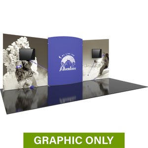 GRAPHIC ONLY - 20ft Formulate Designer Series 08 Tradeshow Fabric Backwall Replacement Graphic