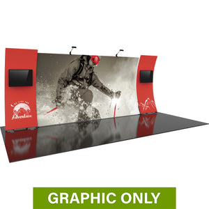 GRAPHIC ONLY - 20ft Formulate Designer Series 12 Tradeshow Fabric Backwall Replacement Graphic