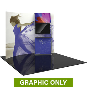 GRAPHIC ONLY - 10ft Formulate Master HC6 Horizontal Curve Fabric Backwall Replacement Graphic