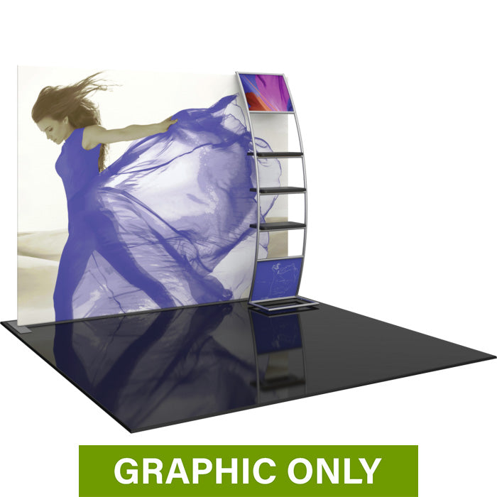 GRAPHIC ONLY - 10ft Formulate Master S6 Straight Fabric Backwall Replacement Graphic
