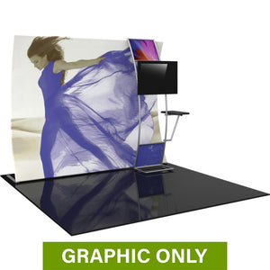 GRAPHIC ONLY - 10ft Formulate Master VC9 Vertical Curve Fabric Backwall Replacement Graphic