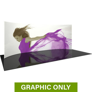 GRAPHIC ONLY - 20ft Formulate Master WH1 Horizontal Curve Tradeshow Fabric Backwall Replacement Graphic