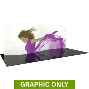 GRAPHIC ONLY - 20ft Formulate Master WSC1 Serpentine Curve Tradeshow Fabric Backwall Replacement Graphic
