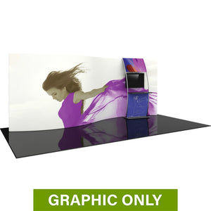 GRAPHIC ONLY - 20ft Formulate Master WSC2 Serpentine Curve Tradeshow Fabric Backwall Replacement Graphic