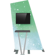Load image into Gallery viewer, Formulate Tension Fabric TV/Monitor Media Kiosk 02