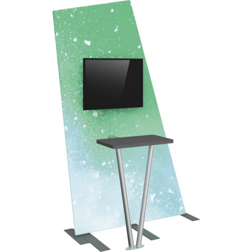 Formulate Tension Fabric TV/Monitor Media Kiosk 02