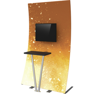 Formulate Tension Fabric TV/Monitor Media Kiosk 03