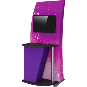 Formulate Tension Fabric TV/Monitor Media Kiosk 04