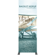 Load image into Gallery viewer, Hopup 2.5ft Backlit Straight Full Height Tension Fabric Display Kit