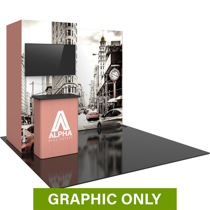GRAPHIC ONLY - 10ft Hybrid Pro Backwall Exhibit 24 Replacement Graphic