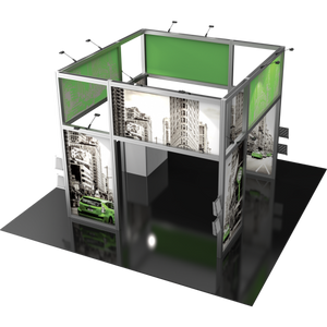 20X20 Trade Show Exhibit - Island Booth Hybrid Pro 18