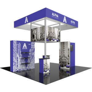 20X20 Trade Show Exhibit - Island Booth Hybrid Pro 23