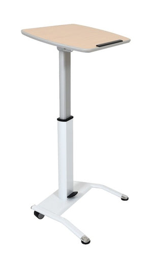 Pneumatic Adjustable-Height Lectern / Mobile Standing Desk