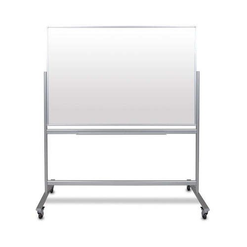 Double-Sided Mobile Magnetic Glass Marker Board