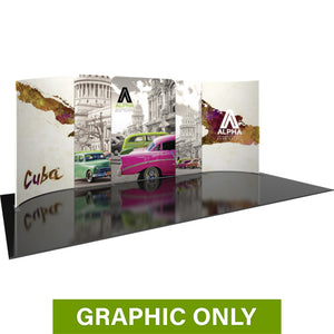 GRAPHIC ONLY - 20ft Modulate Series 04 Tradeshow Fabric Backwall Replacement Graphic