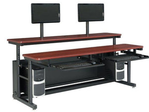 "Split Level Adjustable Computer Table - 35"" D"