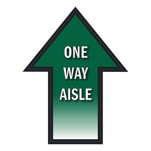 One Way Traffic Arrow Floor Decal