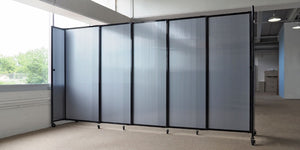 Polycarbonate StraightWall Sliding Portable Partition