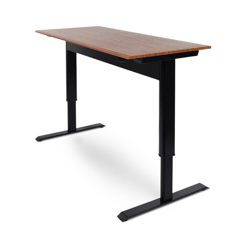 Pneumatic Adjustable-Height Standing Desk - Sit-To-Stand Workstation