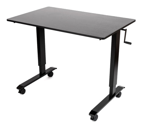 Crank Adjustable Stand Up Desk - Sit-To-Stand Workstation