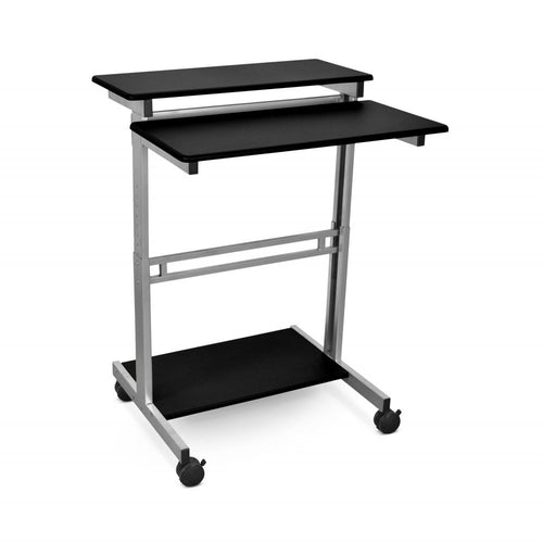 Height Adjustable Stand Up Desk Workstation With Casters