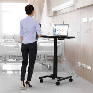 "Sit-to-Stand Computer Desk - 36"" X 22"" - Height Adjustable Standing Desk"