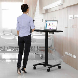 "Sit to Stand Computer Cart - 36"" W x 22"" D"