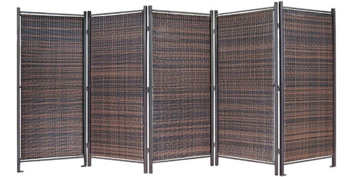 Folding Outdoor Wicker Partition