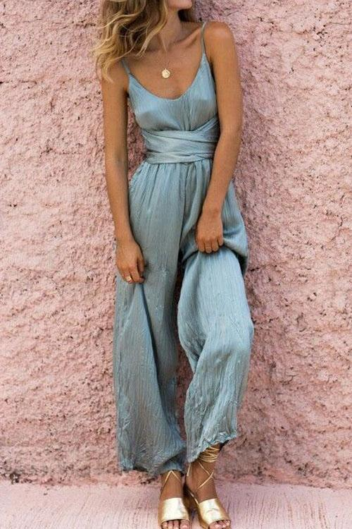Berrymoda Mimosa Wrap Belly Sling Jumpsuit