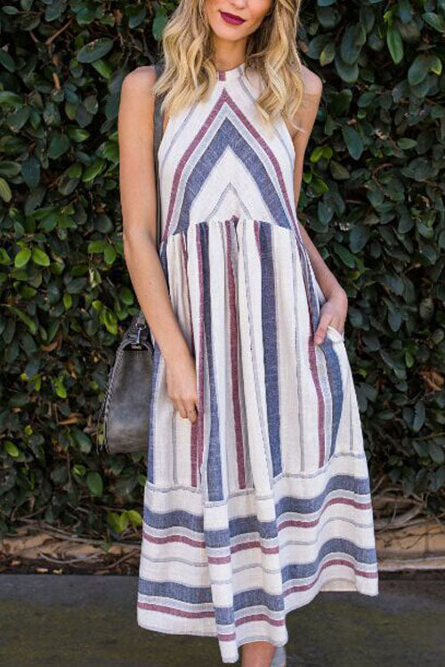 Berrymoda  Miranda Stripe Maxi Dress