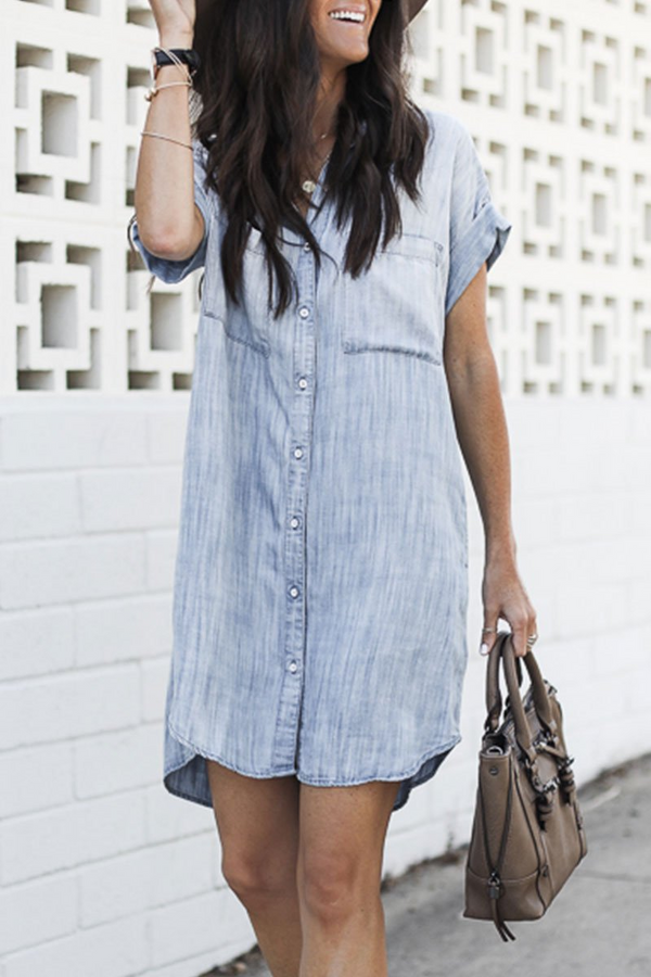 Berrymoda Cowboy On The Run Denim Shirt Dress