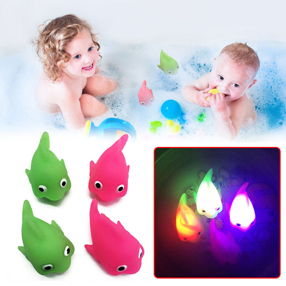 Electronic Fish Flashing Light Up Fish Toy Glowing Fish Toys For Children KIds Baby Bathing Gadget Water Game