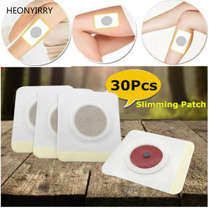 30Pcs Patches Traditional Chinese Medicine Slim Patch Navel Stick Weight Loss Patch Health Care Fat Burning Face Lift Tools