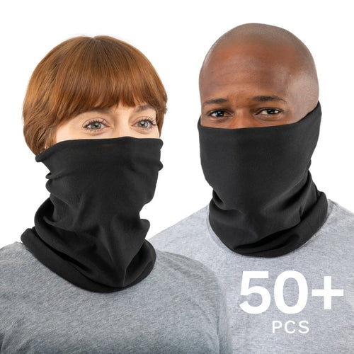 50-10000 Pcs Black USA Face Defender Neck Gaiters Wholesale Bulk Lots Masks by Design Express