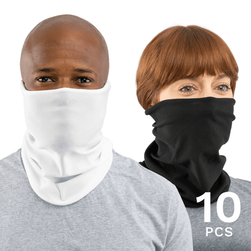10 Pcs USA Face Defender Neck Gaiters Masks by Design Express
