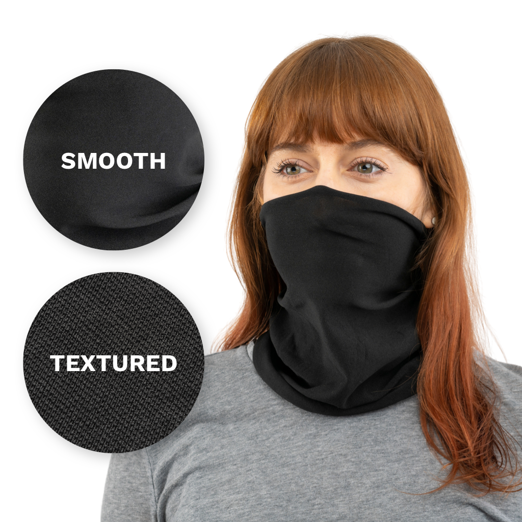 Black / Smooth Black USA Face Defender Neck Gaiters (Buy More, Save More!) Masks by Design Express