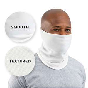 White / Smooth Black USA Face Defender Neck Gaiters (Buy More, Save More!) Masks by Design Express