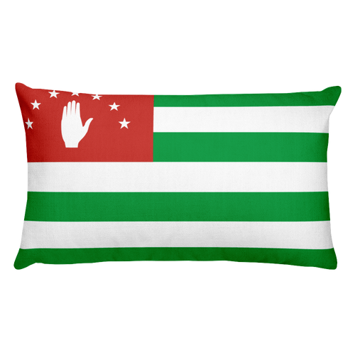 Default Title Abkhazia Flag Allover Print Rectangular Pillow Home by Design Express